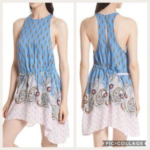 NEW Free People Rendezvous Swing Dress Blue E98